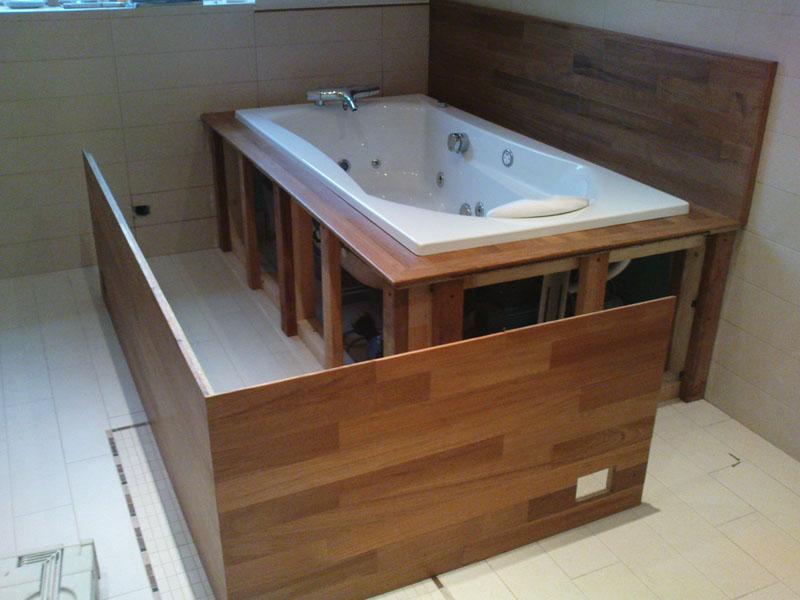 caisson amovible en bois pour baignoire