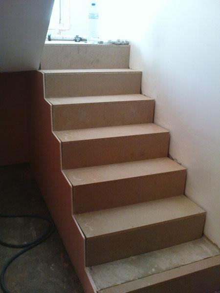préparation escalier avant pose parquet